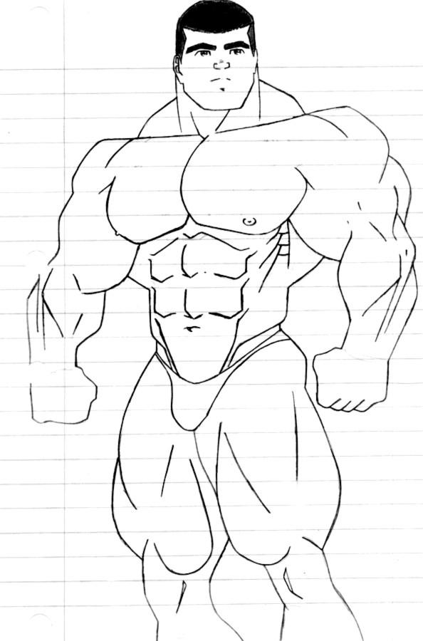 Coloriage et dessins gratuits Musculation maternelle à imprimer