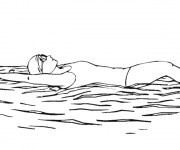 Coloriage et dessins gratuit Fille nageuse à imprimer