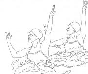 Coloriage et dessins gratuit Natation dance à imprimer