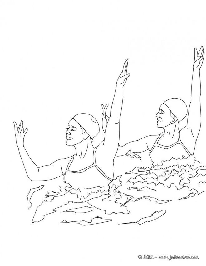 Coloriage et dessins gratuits Natation dance à imprimer