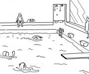 Coloriage natation gratuit imprimer - Tchoupi piscine ...