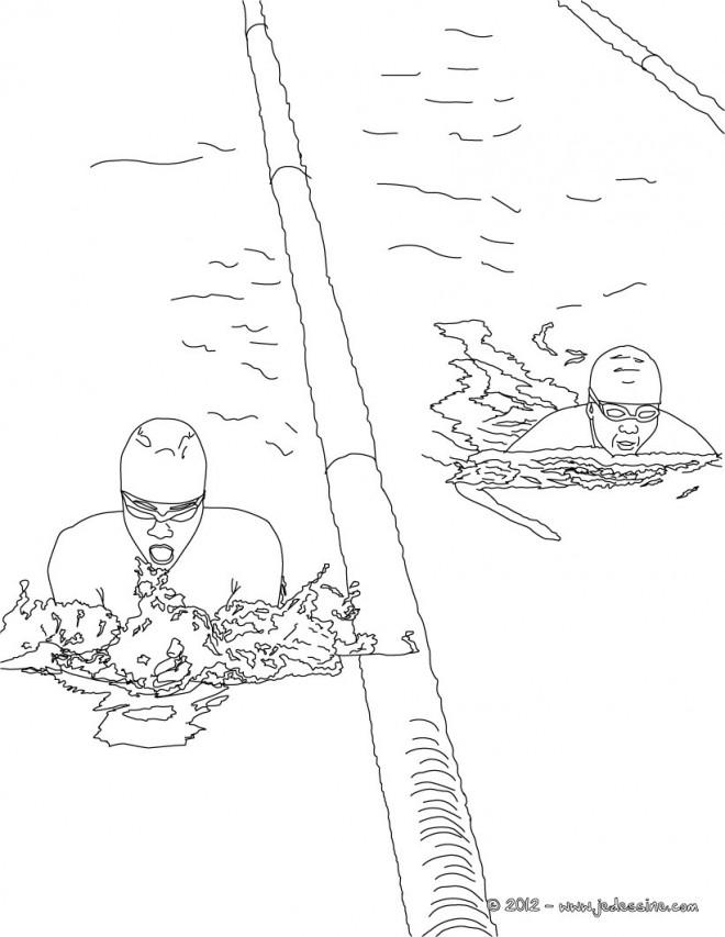 Coloriage et dessins gratuits Natation Olympique à imprimer
