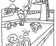 Coloriage et dessins gratuit Natation piscine à imprimer