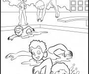 Coloriage et dessins gratuit Natation piscine maternelle à imprimer