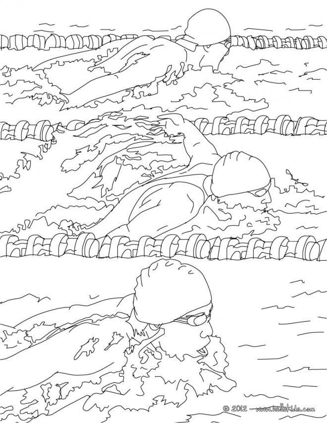 Coloriage et dessins gratuits Natation piscine municipale à imprimer