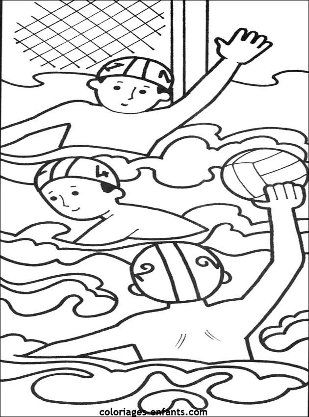 Coloriage et dessins gratuits Water Polo dans Le Piscine à imprimer