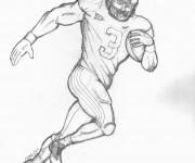 Coloriage et dessins gratuit Football américain au crayon à imprimer