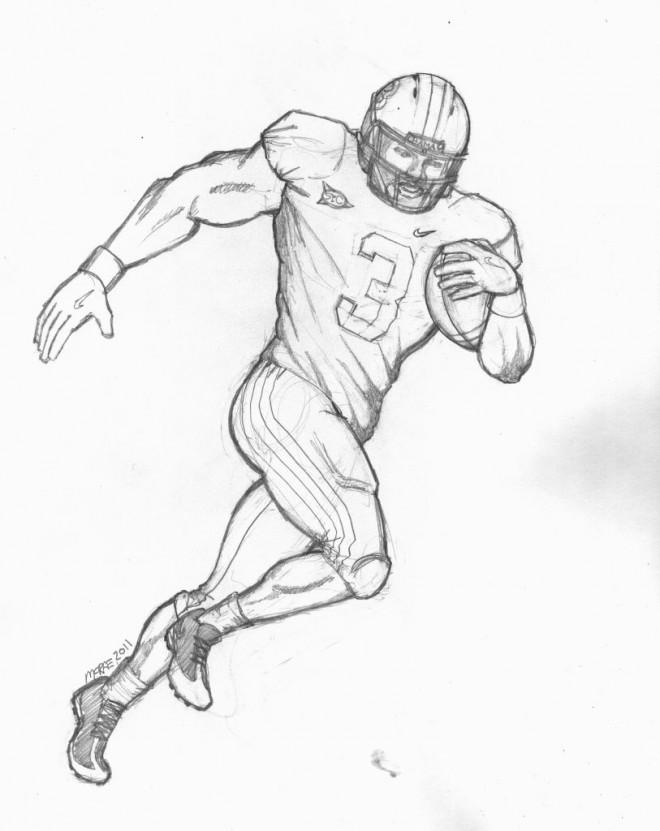 Coloriage football am ricain au crayon dessin gratuit imprimer - Dessin football americain ...