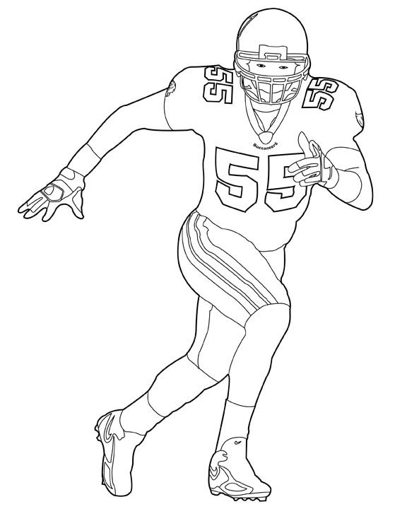 Coloriage et dessins gratuits NFL 14 à imprimer