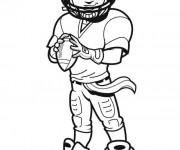 Coloriage et dessins gratuit NFL 18 à imprimer