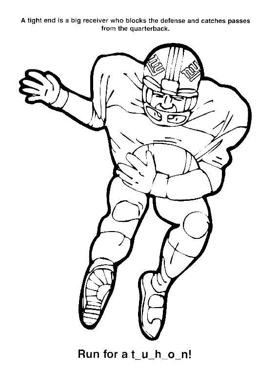 Coloriage et dessins gratuits NFL 27 à imprimer