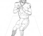 Coloriage et dessins gratuit NFL 9 à imprimer