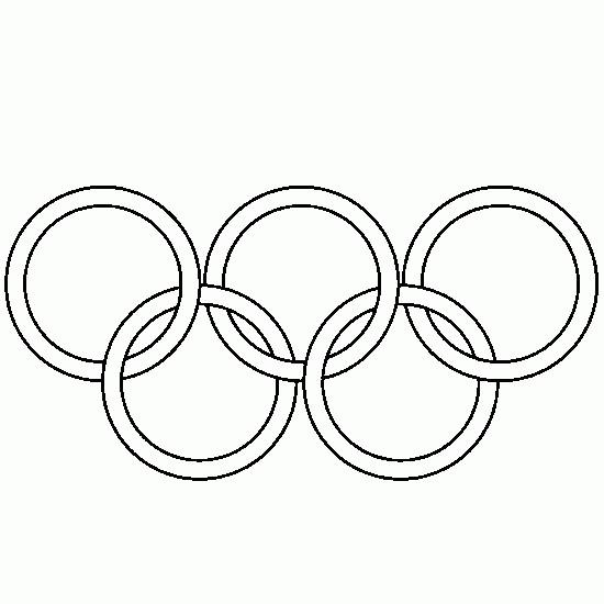 Coloriage et dessins gratuits Anneaux Olympiques à découper à imprimer