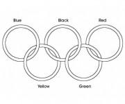 Coloriage et dessins gratuit Anneaux Olympiques couleur à imprimer