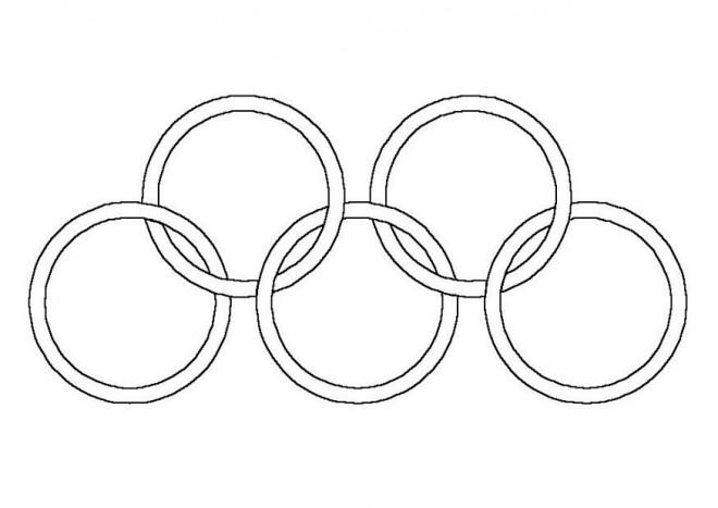 Coloriage et dessins gratuits Anneaux Olympiques simple à imprimer