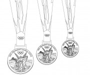 Coloriage et dessins gratuit Des Médailles des Jeux Olympiques à imprimer