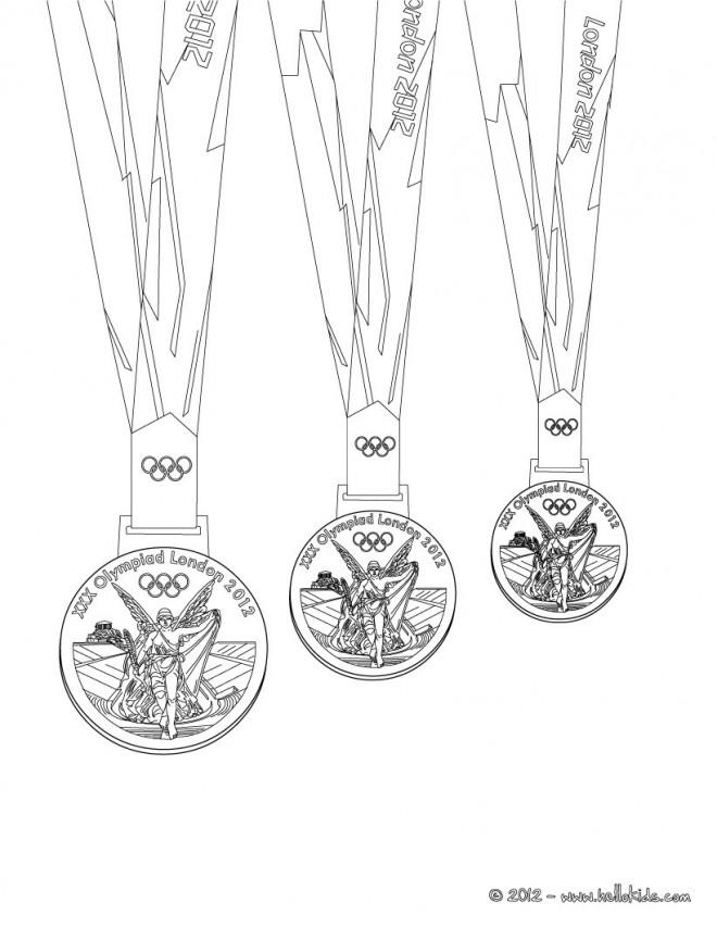 Coloriage et dessins gratuits Des Médailles des Jeux Olympiques à imprimer