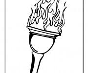 Coloriage olympique gratuit imprimer liste 20 40 - Flamme olympique dessin ...