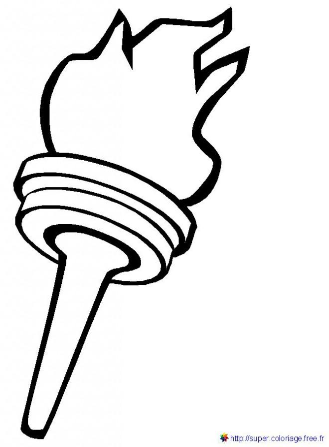 Coloriage et dessins gratuits Flamme Olympique vecteur à imprimer