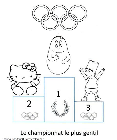 Coloriage et dessins gratuits Gagnants des jeux Olympiques dessin animé à imprimer