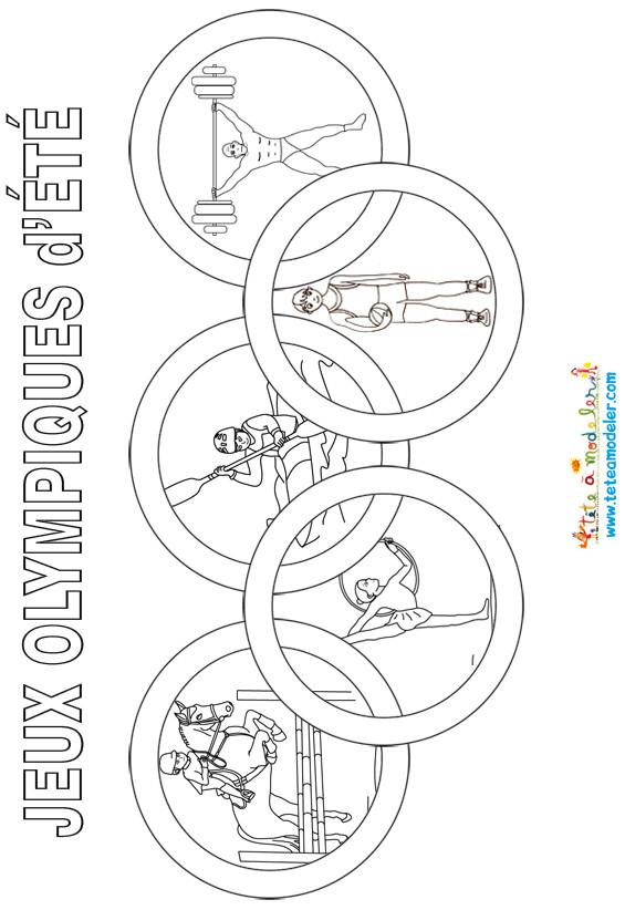 Coloriage et dessins gratuits Jeux Olympique d'été à imprimer