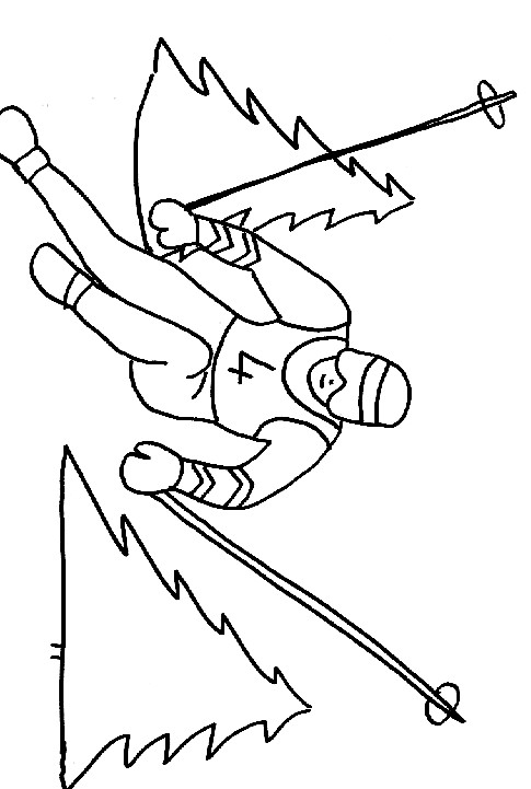 Coloriage et dessins gratuits Jeux Olympiques d'hiver à imprimer