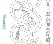 Coloriage et dessins gratuit Jeux Olympiques d'hiver stylisé à imprimer