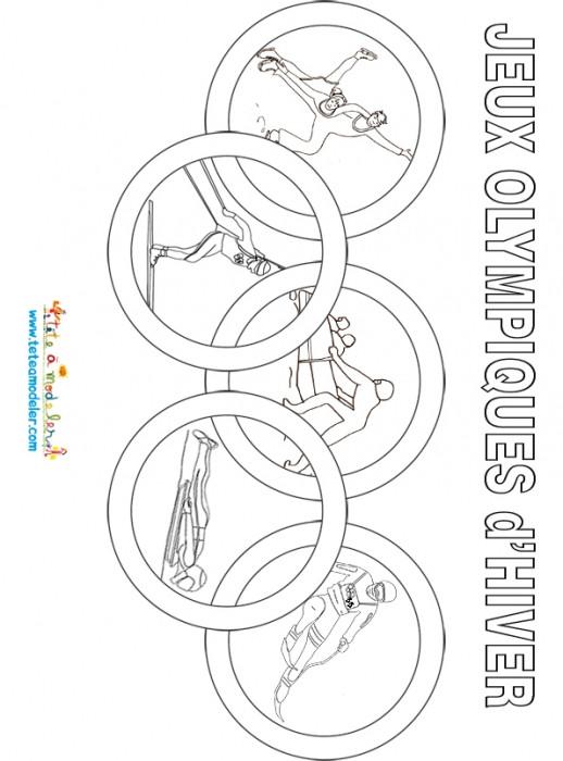 Coloriage et dessins gratuits Jeux Olympiques d'hiver stylisé à imprimer