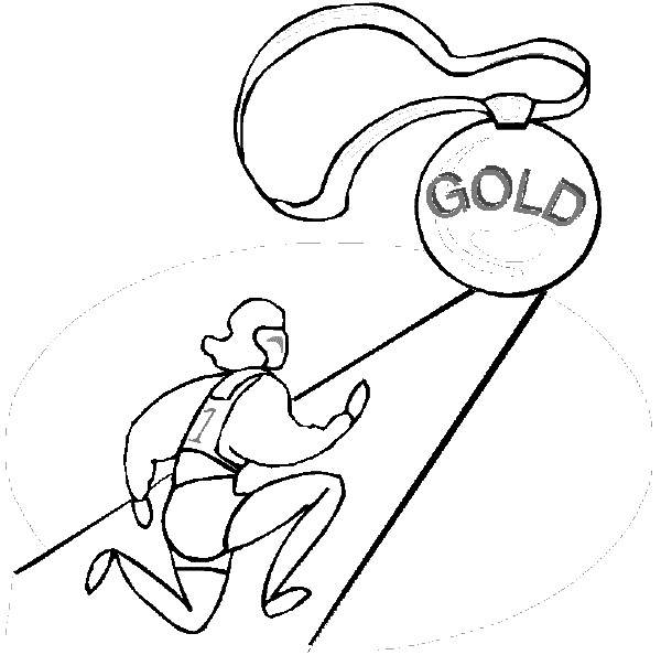 Coloriage et dessins gratuits Jeux Olympiques et la poursuite de victoire à imprimer