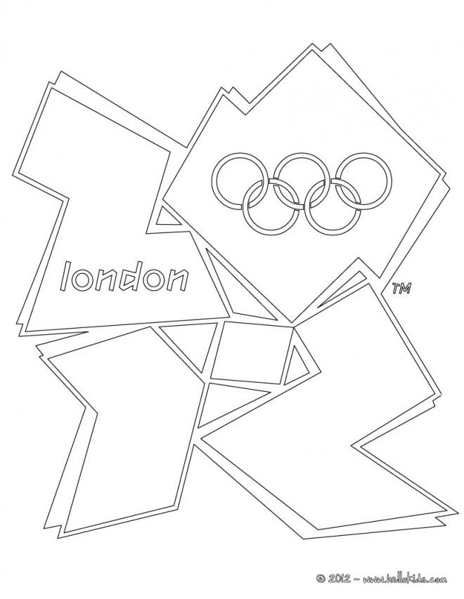 Coloriage Jeux Olympiques London Dessin Gratuit à Imprimer