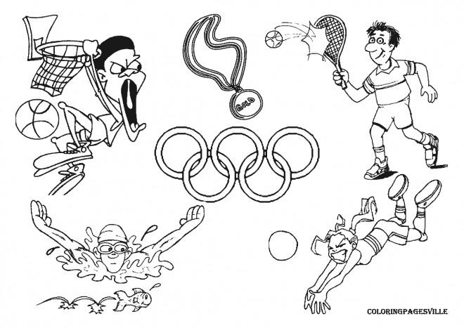 Coloriage et dessins gratuits Jeux Olympiques pour enfant à imprimer