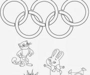 Coloriage et dessins gratuit Jeux Olympiques Sochi à imprimer