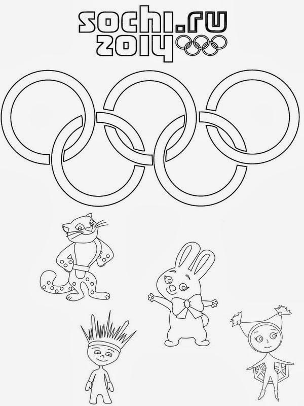 Coloriage et dessins gratuits Jeux Olympiques Sochi à imprimer