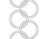 Coloriage et dessins gratuit Logo de Jeux Olympiques à imprimer