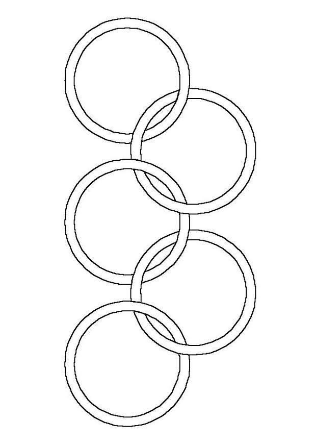 Coloriage et dessins gratuits Logo de Jeux Olympiques à imprimer