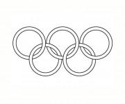 Coloriage et dessins gratuit Logo Jeux Olympiques vectoriel à imprimer