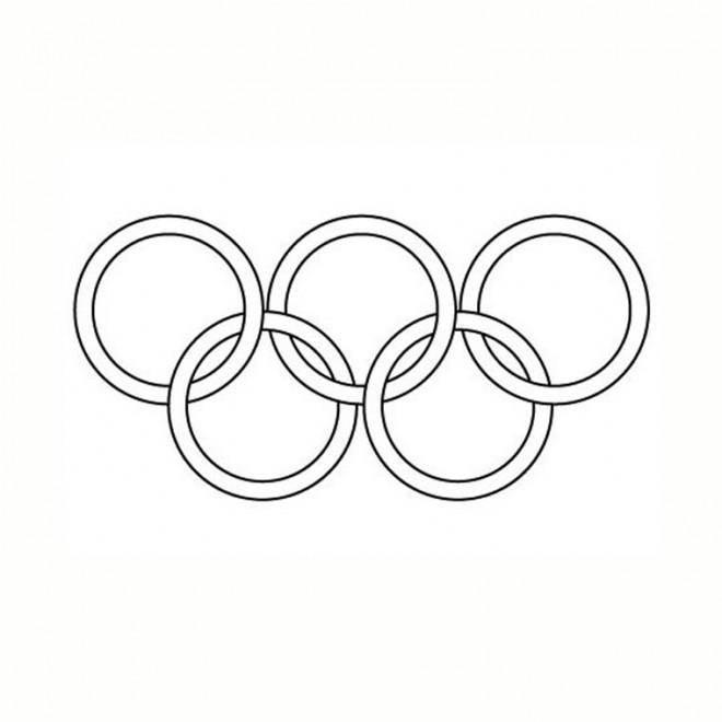 Coloriage et dessins gratuits Logo Jeux Olympiques vectoriel à imprimer