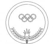 Coloriage et dessins gratuit Logo Olympique à imprimer