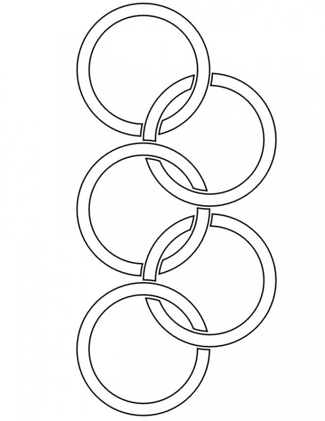 Coloriage et dessins gratuits Logo Olympique facile à imprimer