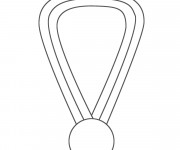 Coloriage et dessins gratuit Médaille Olympique facile à imprimer