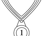 Coloriage et dessins gratuit Médaille Olympique pour gagnant à imprimer