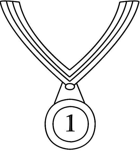 Coloriage et dessins gratuits Médaille Olympique pour gagnant à imprimer