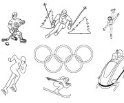Coloriage dessin  Olympique 1