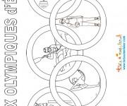 Coloriage dessin  Olympique 4