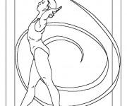 Coloriage et dessins gratuit Olympique Danse Rythmique à imprimer