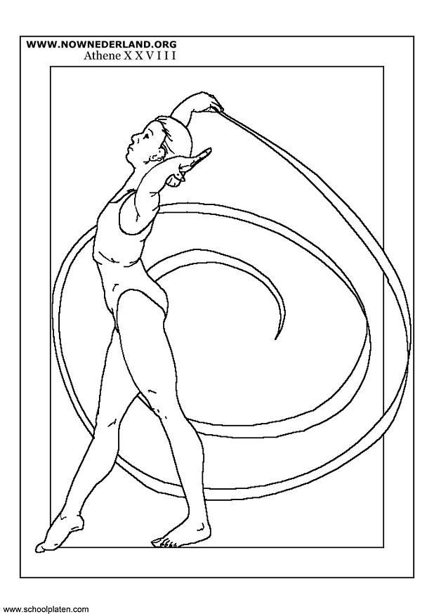 Coloriage et dessins gratuits Olympique Danse Rythmique à imprimer