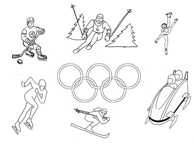 Coloriage et dessins gratuits Olympique maternelle à imprimer