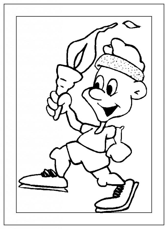 Coloriage et dessins gratuits Sportif portant la flamme Olympique à imprimer