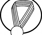 Coloriage et dessins gratuit Une médaille vecteur à imprimer