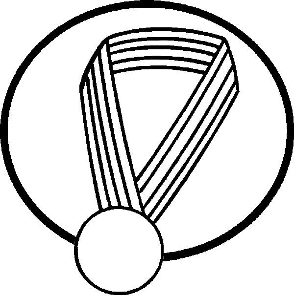 Coloriage et dessins gratuits Une médaille vecteur à imprimer